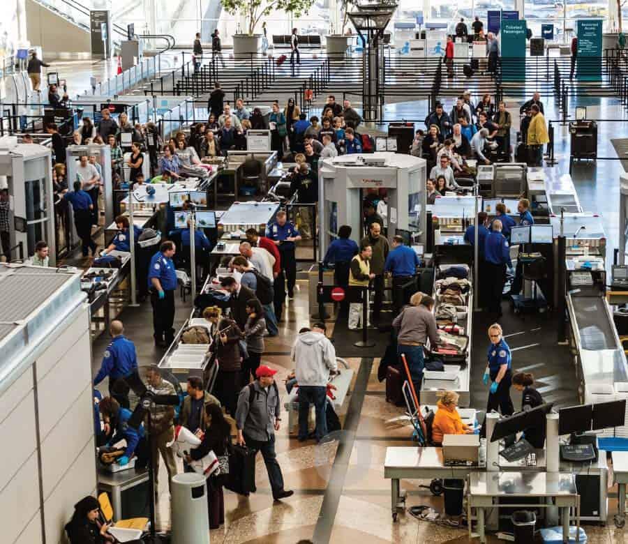 TSA line at airport - The Optical Journal