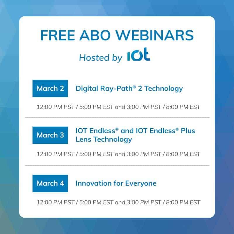Free ABO Webinars from IOT