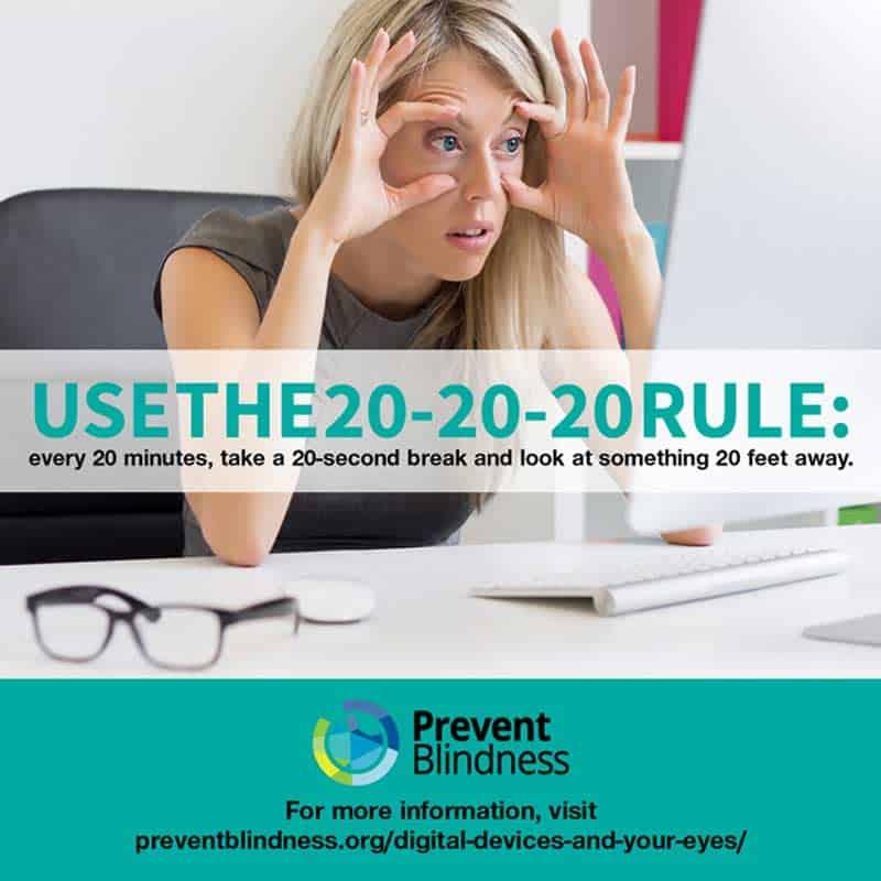 Prevent Blindness 20-20 Rule