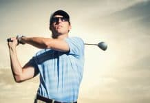golfer wearing sunglasses - The Optical Journal