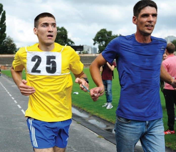blind runner