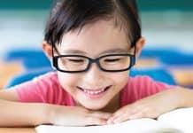 child reading - myopia