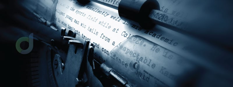 typewriter - contact us - The Optical Journal